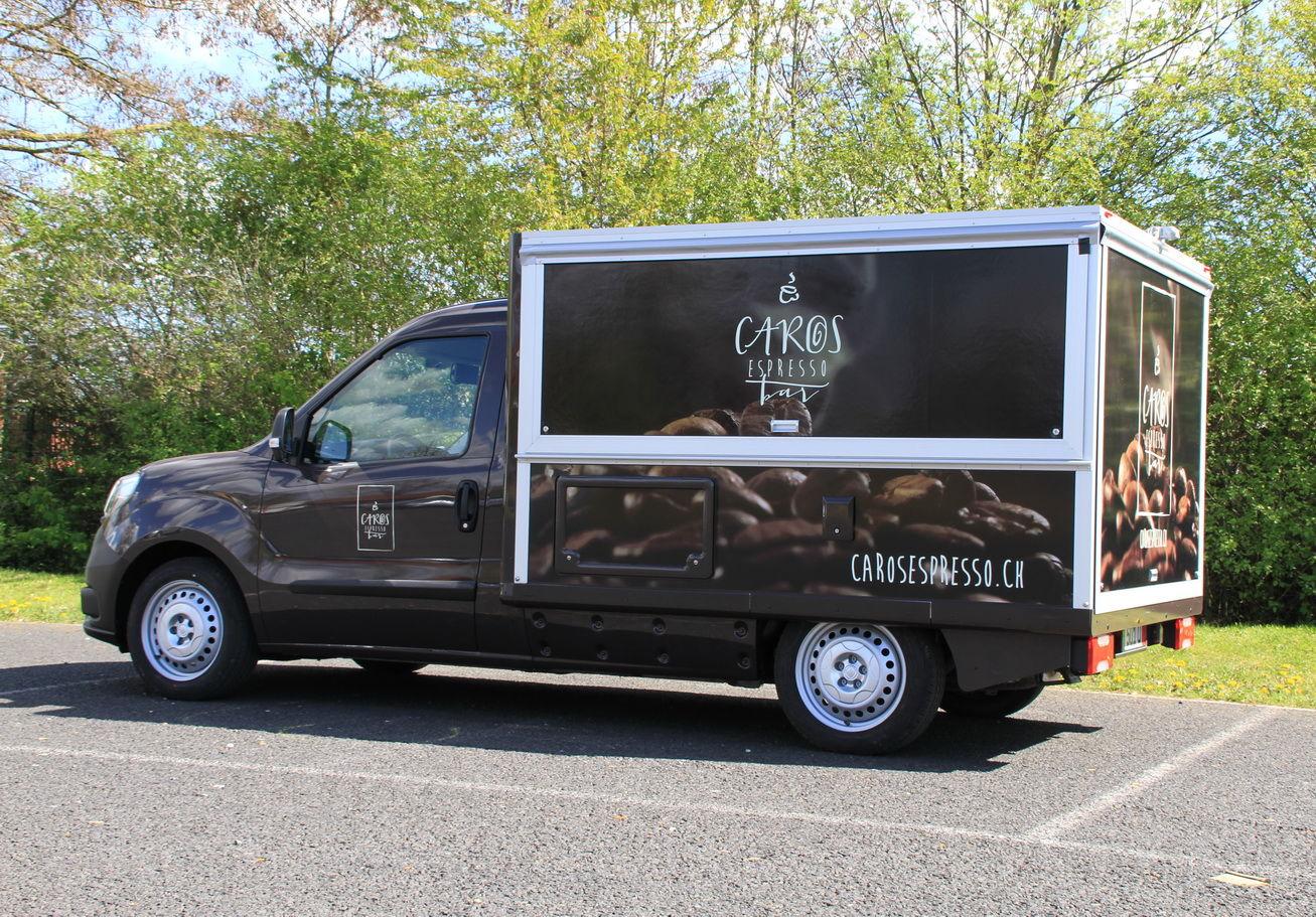 Der Fiat Doblo in der Version mobiles Café , das neue Kaffeemobil