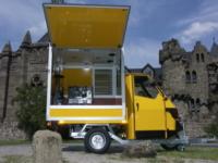 Piaggio Ape 50 Kaffee Mobil mit Espresso Aufbau und Café Maschine