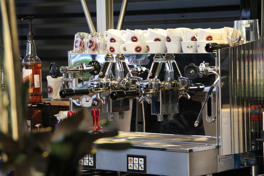 Ein Modell der Espressomaschine die wir in dem Ape Espresso Mobil verwenden