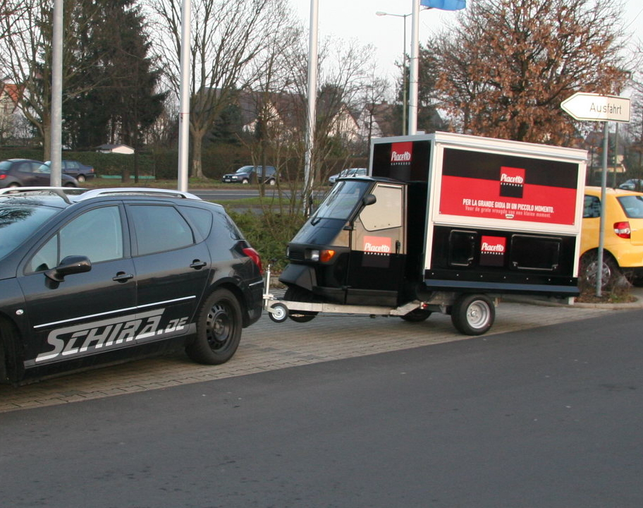 Das Anhänger System der Ape 1200 Cafe Mobil Black Edition