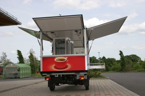 Piaggio Ape TM 703 Kaffeemobil das Espressomobil