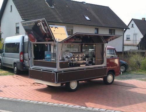 Spezialumbau von einem VW T2 Pritsche zum Kaffeemobil
