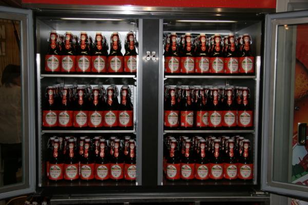Das Maxi Kühlcenter der Ape 1200 Espressomobil