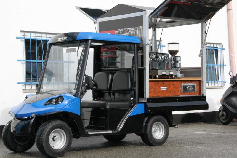 Melex Elektromobil die mobile Kaffeebar