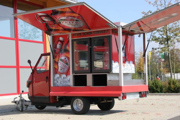Ape 1200 AFG das Kühlmobil für Bier und Kaltgetränke