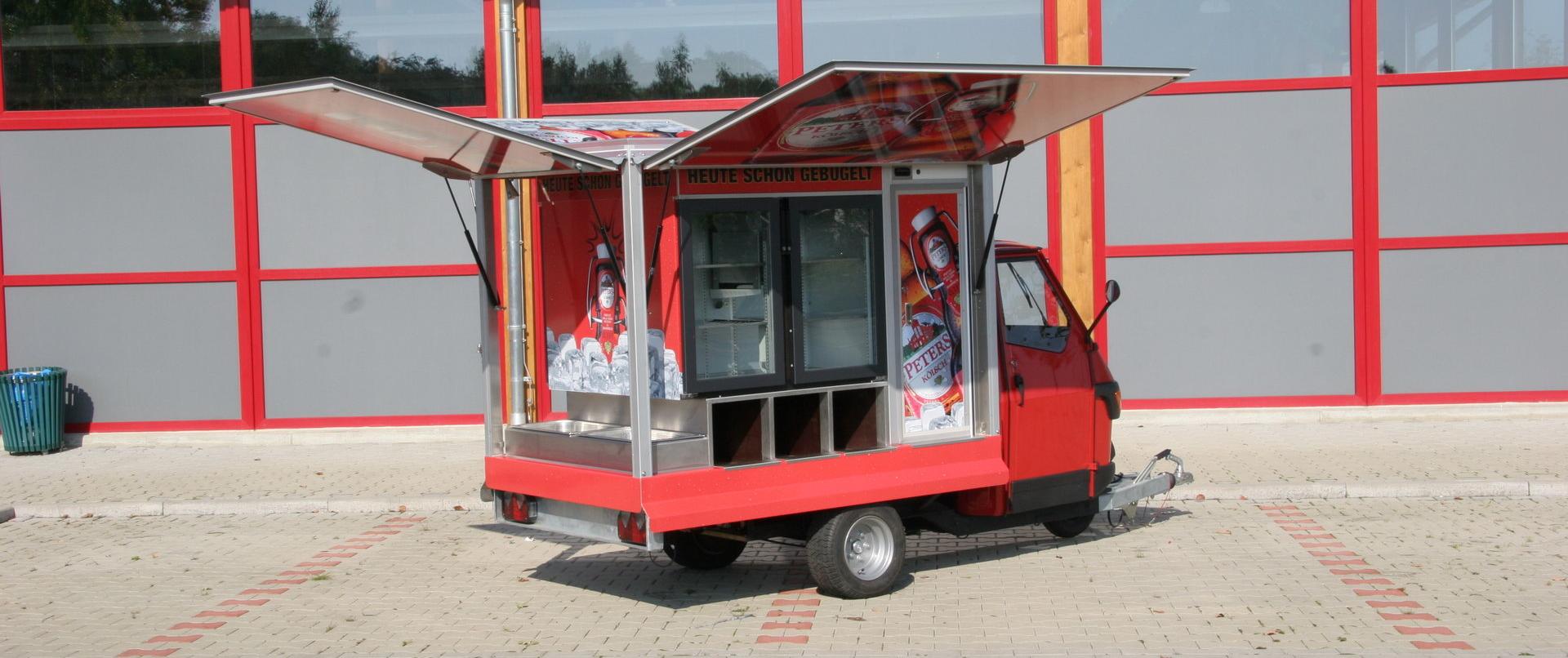 Ape 1200 AFG Flaschen Promotion Mobil