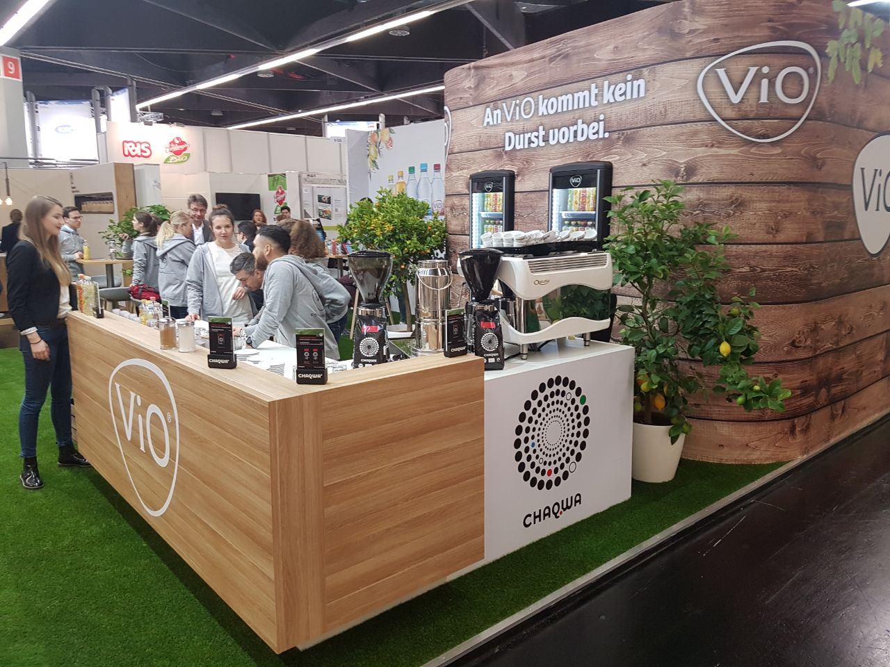 Chaqwa Kaffee Biofach 2018 Messestand Catering und Promotion
