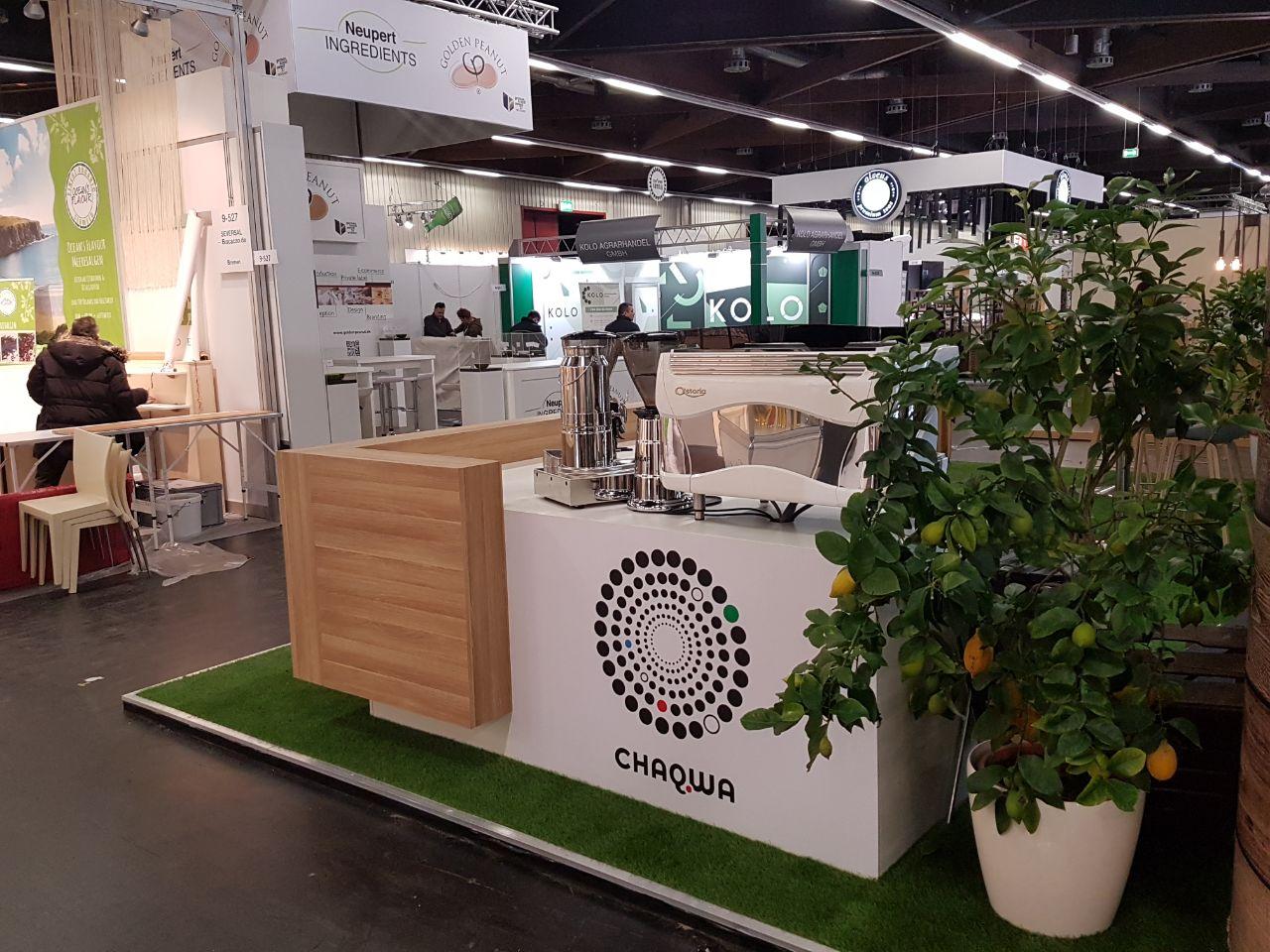 Chaqwa Kaffee Biofach 2018 Messestand Catering und PromotionChaqwa Kaffee Biofach 2018 Messestand Catering und Promotion