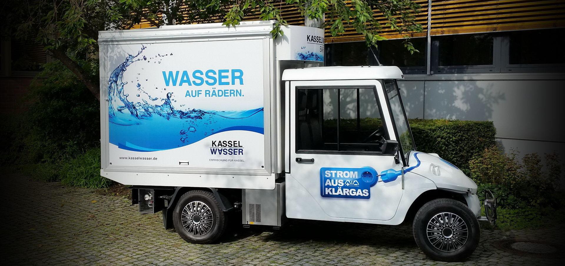 Melex Elektromobil mit Wasserbar von Kassel Wasser