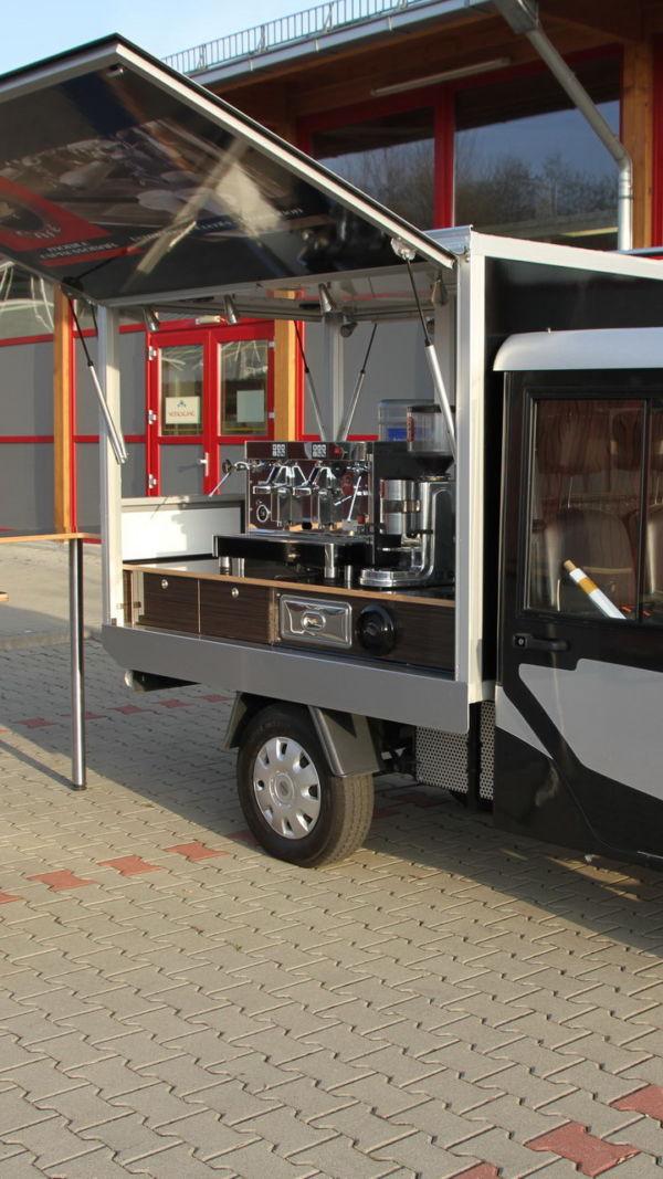 Melex E-Mobil das neue Kaffeemobil auf der Basis des Melex E-Cart