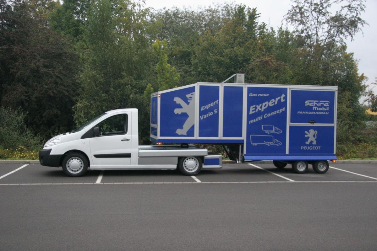 Peugeot Expert Minni-SattelaufliegerPromotionmobil und Kaffeemobil