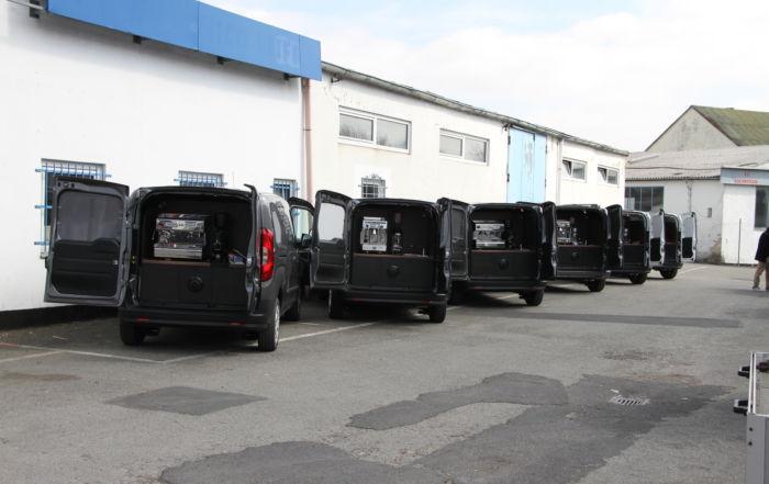 Fiat Doblo Espressomobil die Flotte
