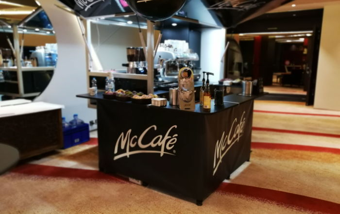 Fashion Dinner 2018 McCafe und dem Kaffeemobil