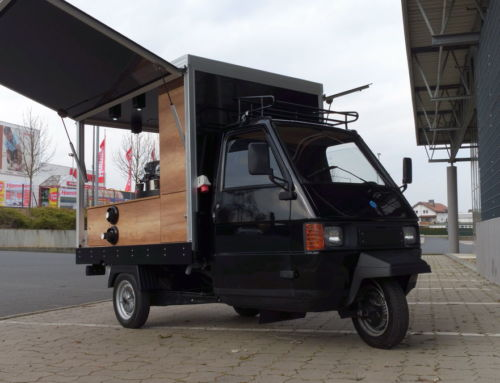 Ape Promotion Mobil für Kapselsysteme