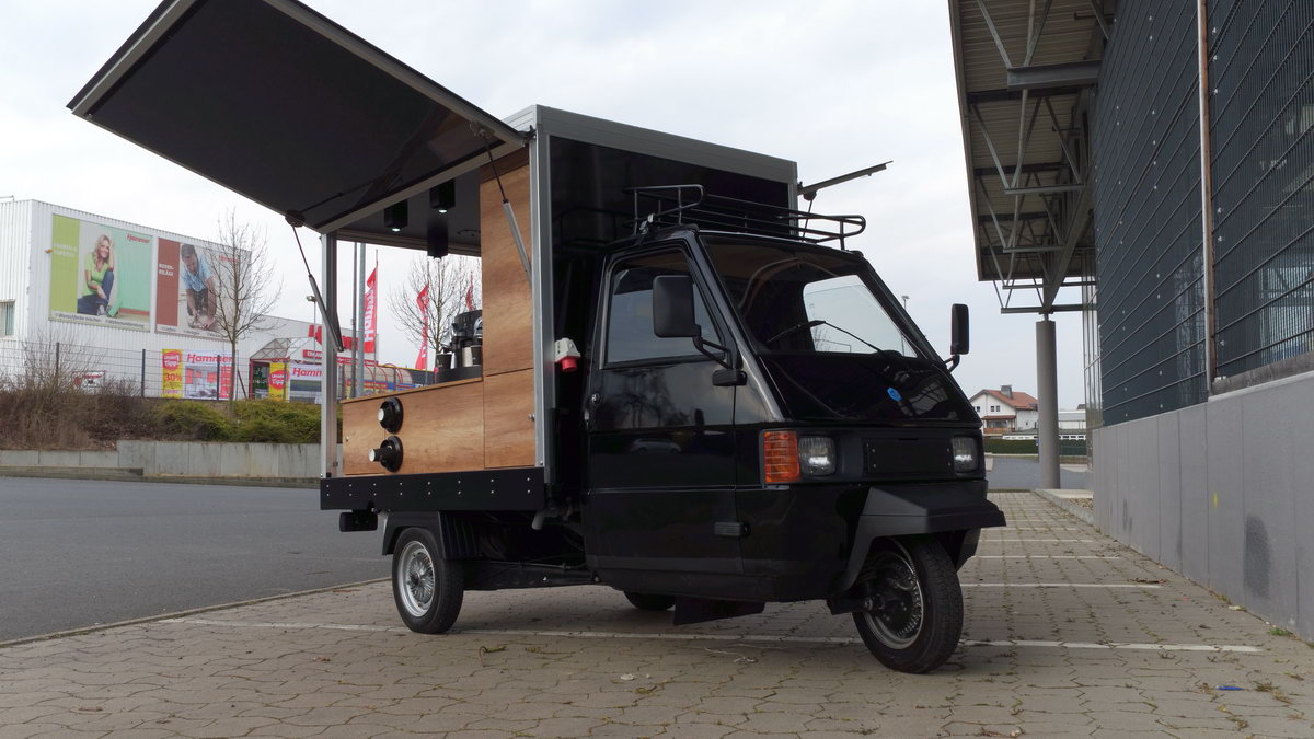 piaggio ape tm 703 kaffeemobil vorf hrfahrzeug schira mobil. Black Bedroom Furniture Sets. Home Design Ideas