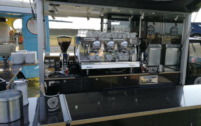 Ape 1200 Black Edition Espressomobil in der Maxi Version