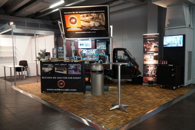 Die Ape1200 Baristamobil auf der Pro Fachhandel 2018 das neue Kaffeemobil