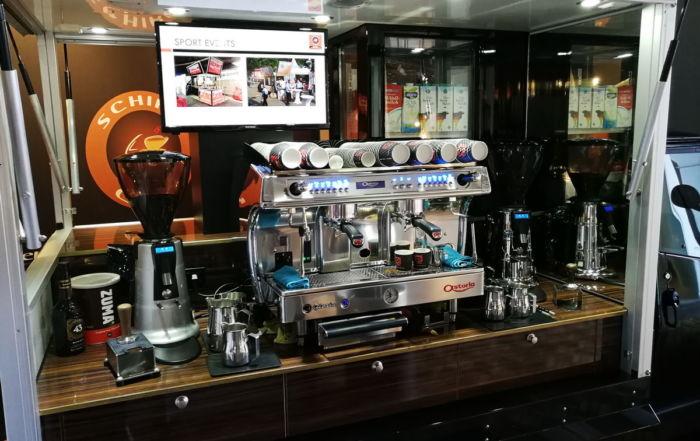 Die Ape1200 Baristamobil auf der Pro Fachhandel 2018 das neue Kaffeemobil die Espressomaschine von Astoria.