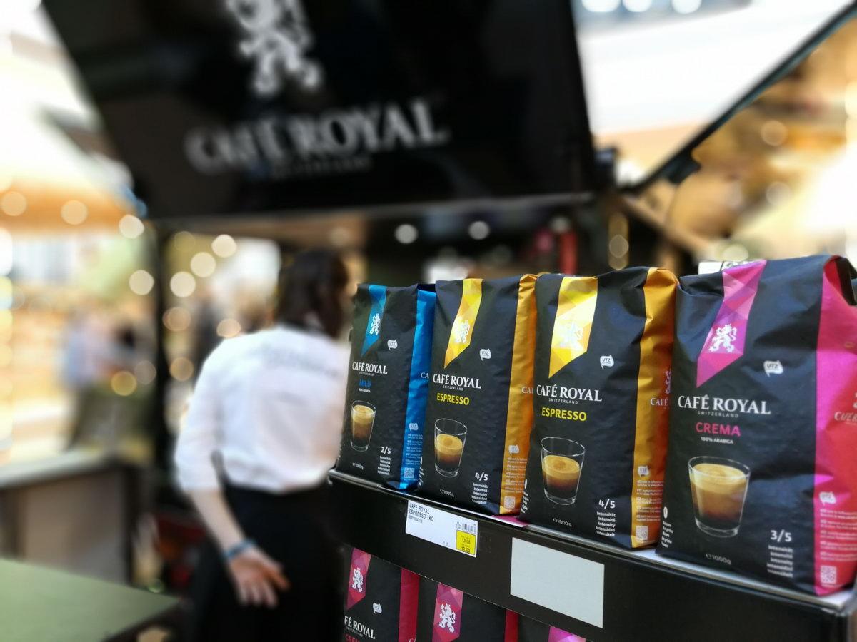 Die Espressosorten von Cafe Royal auf der Barista Promotion in Kiel