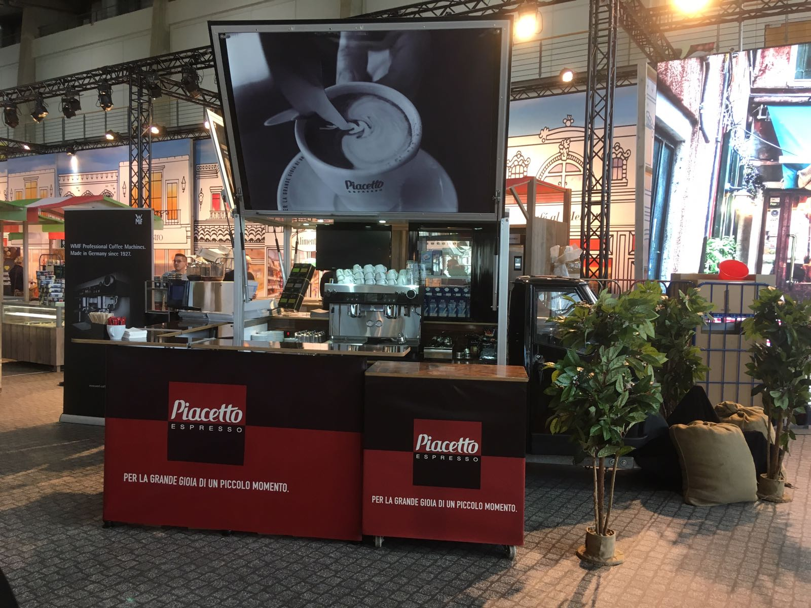 Piachetto Ape1200 Espressomobil im Promotion Einsatz