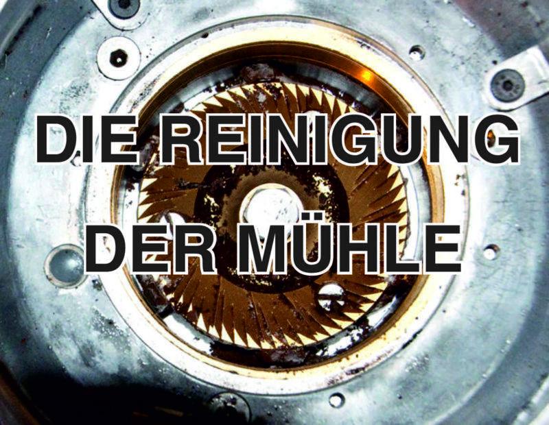 Reinung der Espressomühle