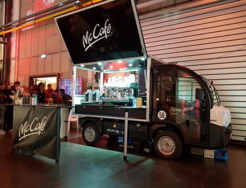 Mit dem McCafé Mobil bei GNTM 2019