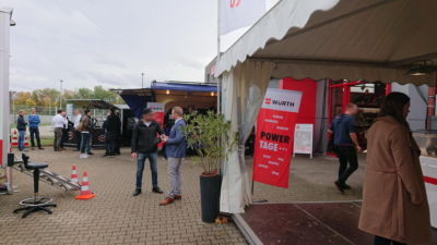 Das Schira Café Ape 1200 Espressomobil bei Würth in Kassel