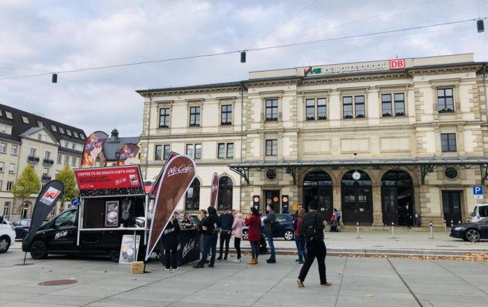 Promotion Kaffeemobil McCafé