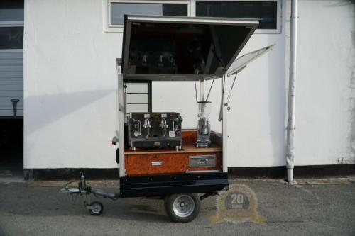 Die kleine Coffeebox. Das kleinen Anhänger Kaffeemobil.