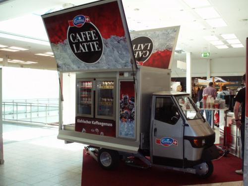 Ape 1200 Cool Line, das Promotion Mobil für AFG