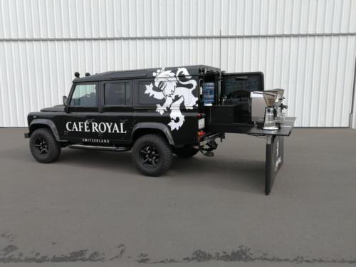 Defender Cafe Royal Espressomobil , das neue Allrad Kaffeemobil.
