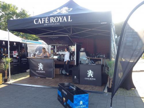 Mit dem Kaffeemobil auf der Kieler Woche 2018 zusammen mit Café Royal